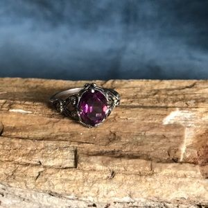 Antique Sterling silver and Amethyst Ring